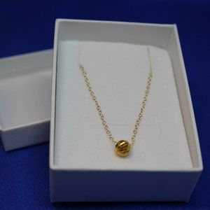Lugassi Solid Ball Bead Necklace New